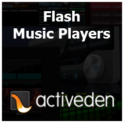 Flash Music Players at Activeden